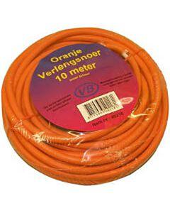 Verlengkabel 10 meter oranje ongeaard