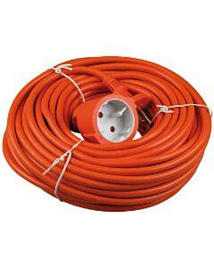Verlengkabel 20 meter oranje ongeaard