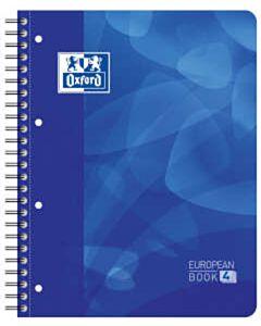 Oxford projectboek A4+ 4-gaats lijn 120 vel blauw