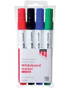 Quantore whiteboardmarker 1-1,5mm rond 4 stuks