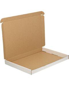 50 Witte brievenbusdozen A4+ 350x250x28 mm