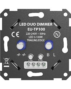 Ratio LED duo dimmer 5-100W