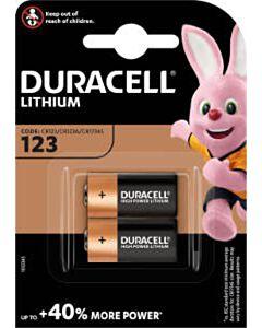 Duracell DL123A / CR123A / EL123A batterijen (2)