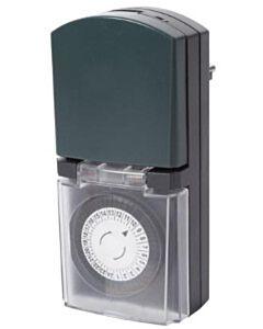 Tijdklok voor buitengebruik Perel E305DO2-G