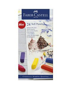 Pastelkrijt Faber Castell halve lengte 24 stuks
