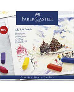 Pastelkrijt Faber Castell halve lengte 48 stuks