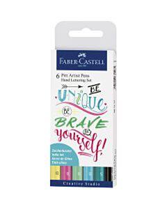 Handlettering Pitt Artist Pen set Faber-Castell 6-delig 267116