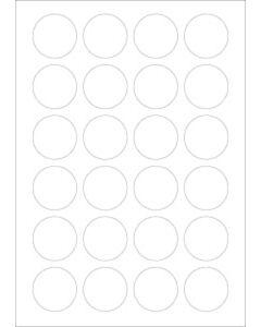 Verwijderbare A4 etiketten 40 mm rond wit (100 vel)