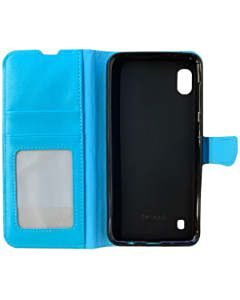 Samsung Galaxy A10 book case aqua blauw