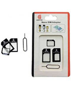 Griffin 3 in 1 Micro en Nano SIM adapter set + pin