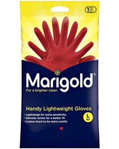 Huishoudhandschoenen Marigold rood maat L (1 paar)