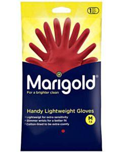 Huishoudhandschoenen Marigold rood maat M (1 paar)
