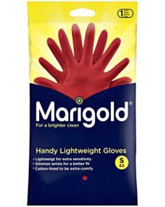 Huishoudhandschoenen Marigold rood maat S (1 paar)