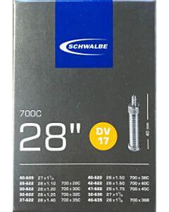 Schwalbe fiets binnenband 28 inch DV