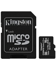 Kingston Canvas Select Plus micro SDHC 16 GB geheugenkaart + adapter